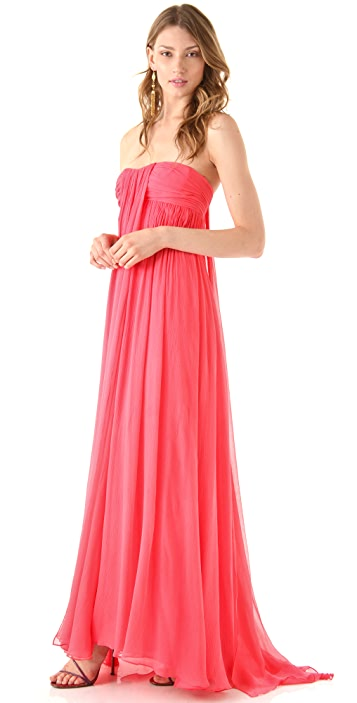 Halston Heritage Strapless Gown