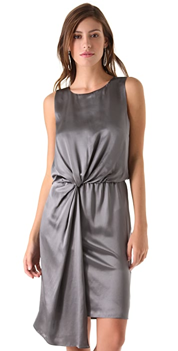 Halston Heritage Draped Sleeveless Dress