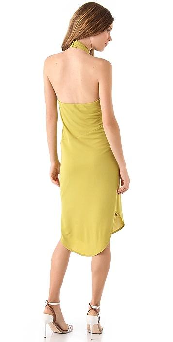 Halston Heritage Halter Neck Dress