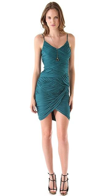 Halston Heritage Jersey Pleated Dress