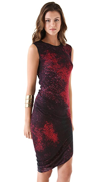 Halston Heritage Print Sleeveless Dress