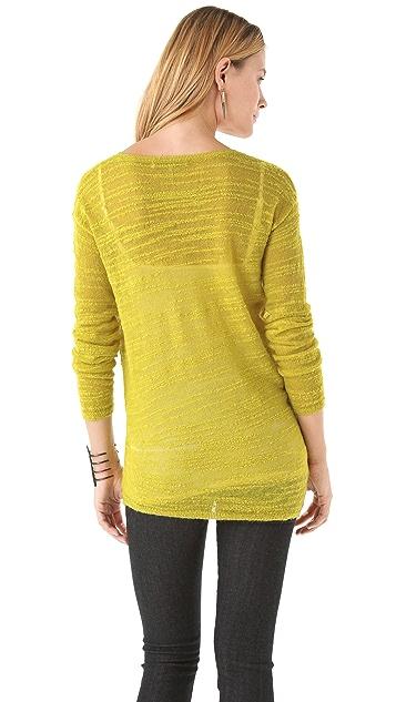 Halston Heritage Slub Crew Neck Sweater