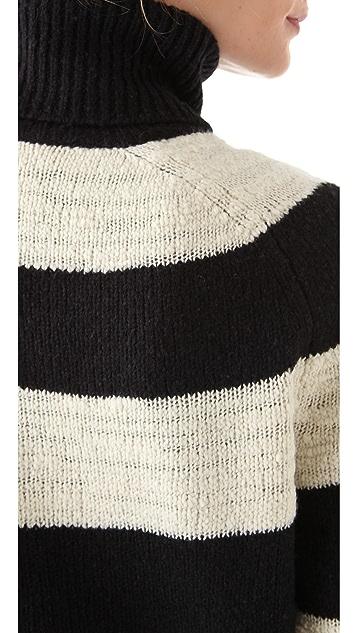 Halston Heritage Stripe Slubbed Sweater