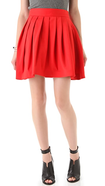 Halston Heritage Bell Skirt with Pockets