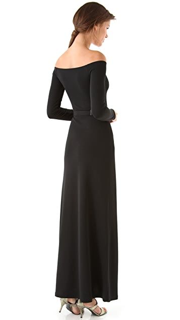 Halston Heritage Off Shoulder Gown