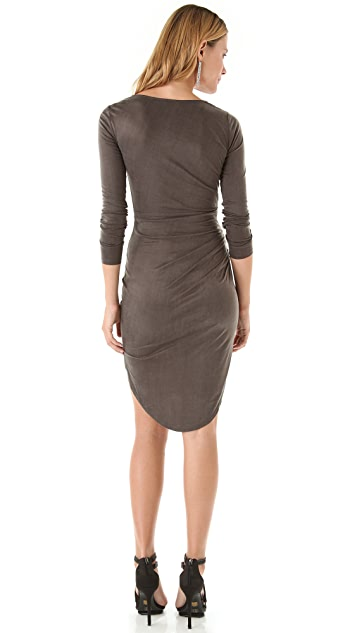 Halston Heritage Fishtail Hem Dress