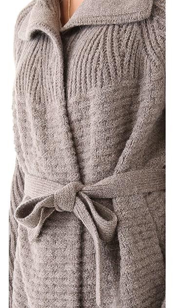 Halston Heritage Textured Cardigan Coat