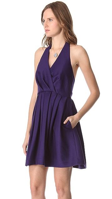 Halston Heritage Faille Halter Dress