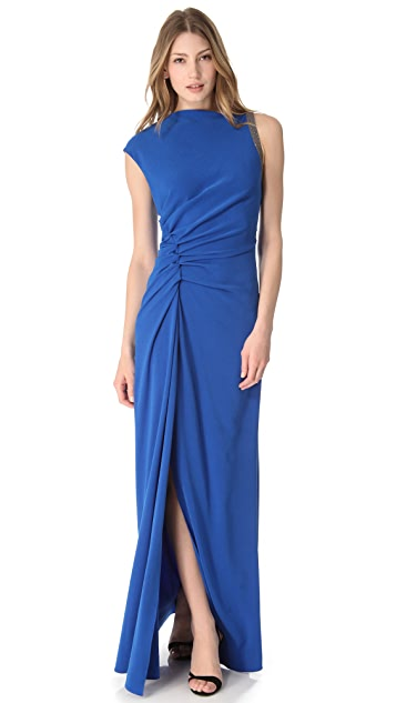 Halston Heritage Ruched Gown