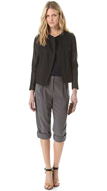 Halston Heritage Relaxed Crop Pants