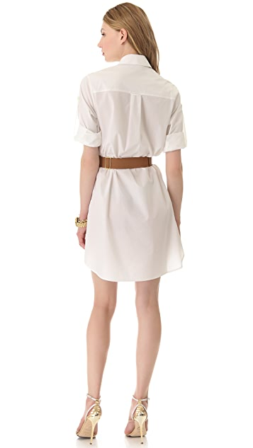 Halston Heritage Belted Shirtdress