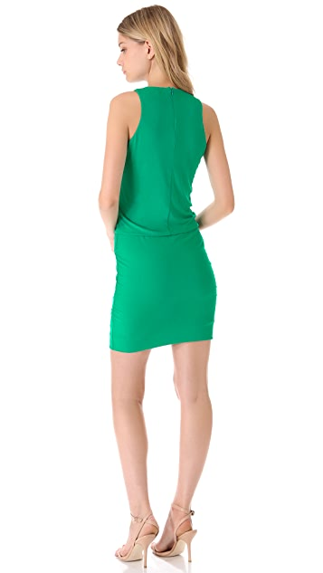 Halston Heritage Gathered Hip Dress