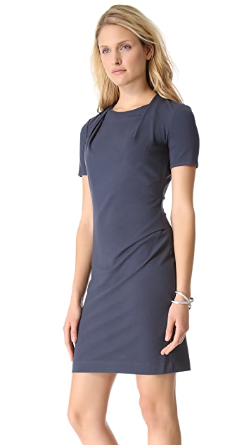 Halston Heritage Drape Neck Dress