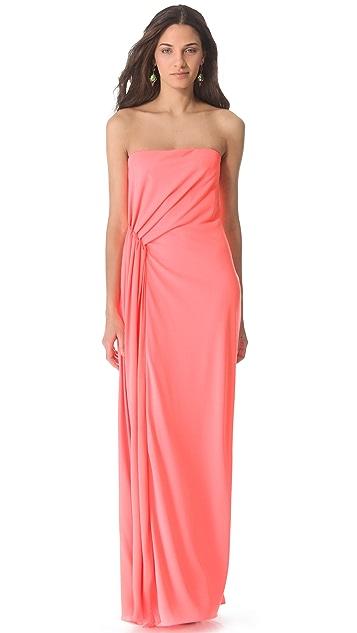 3e0747b51b5 Halston Heritage Strapless Ruched Waist Gown