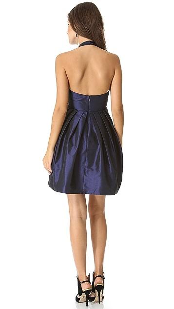 Halston Heritage Bow Halter Dress with Pocket