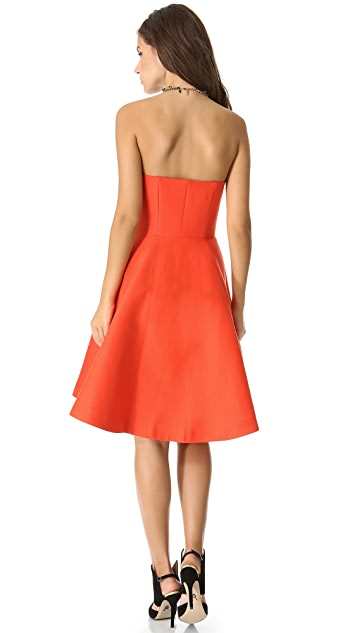 Halston Heritage Strapless Structure Dress
