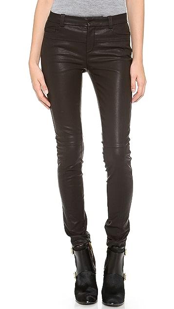 Halston Heritage Skinny Faux Leather Pants