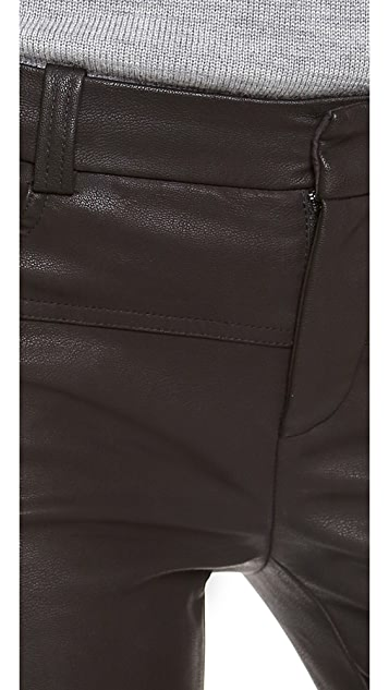 Halston Heritage Skinny Faux Leather Pants