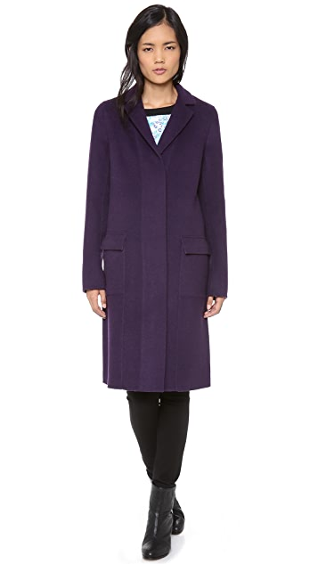 Halston Heritage Double Face Colorblock Coat