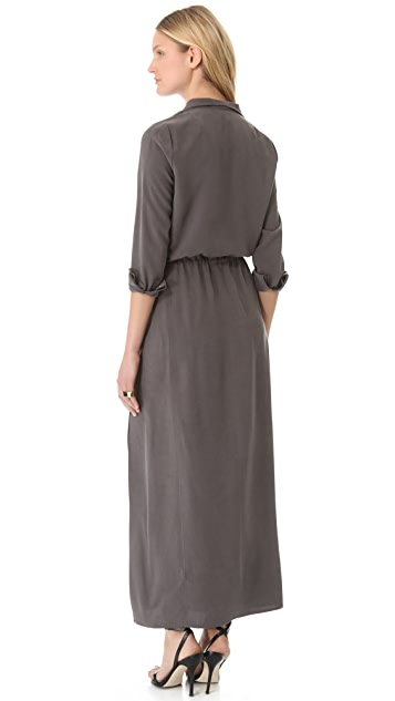 Halston Heritage Zipped Maxi Dress