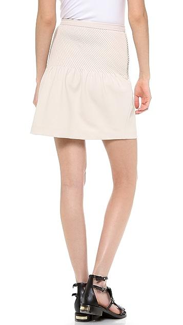 Halston Heritage Tulip Skirt with Pintucks