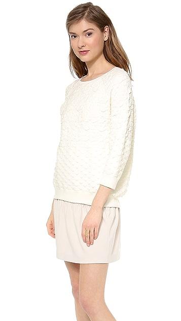 Halston Heritage Boxy Jacquard Sweater