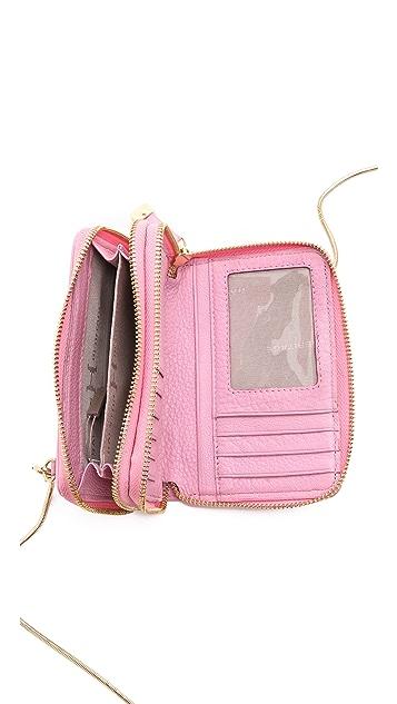 Halston Heritage Mini Double Zippy Wallet