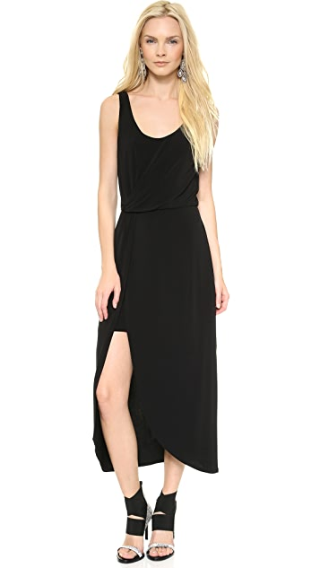 Halston Heritage Wrap Tank Dress