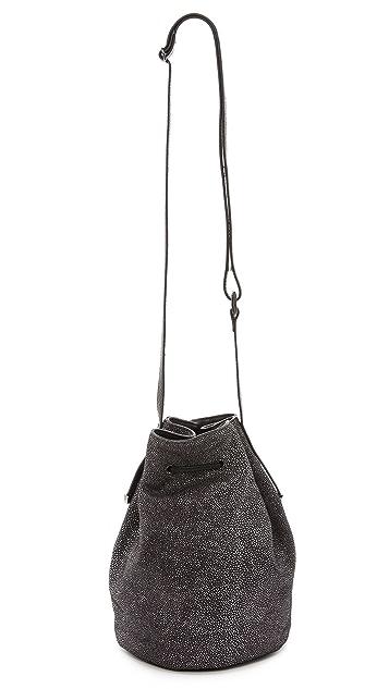 Halston Heritage Embossed Bucket Bag