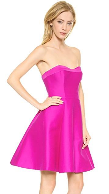 Halston Heritage Strapless Structured Dress