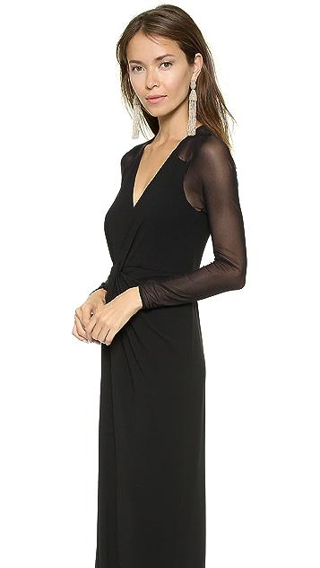 Halston Heritage Twist Front Gown