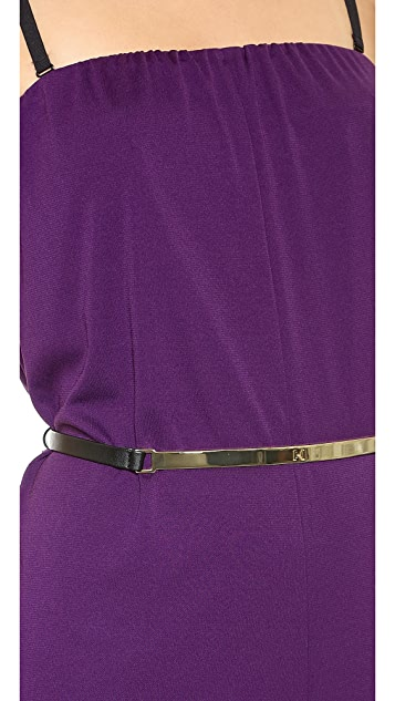 Halston Heritage Jumpsuit with Logo Belt