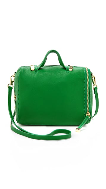 Halston Heritage Leather Mini Satchel
