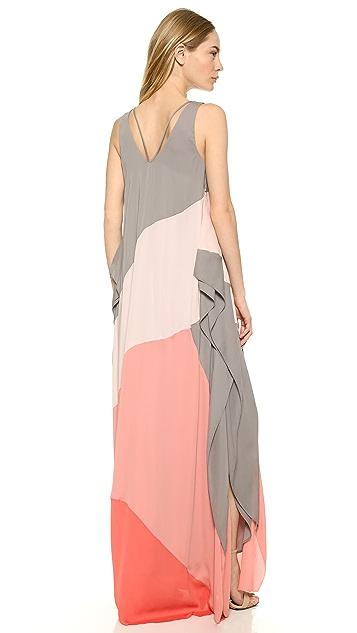Halston Heritage Colorblock Flowing Gown | SHOPBOP