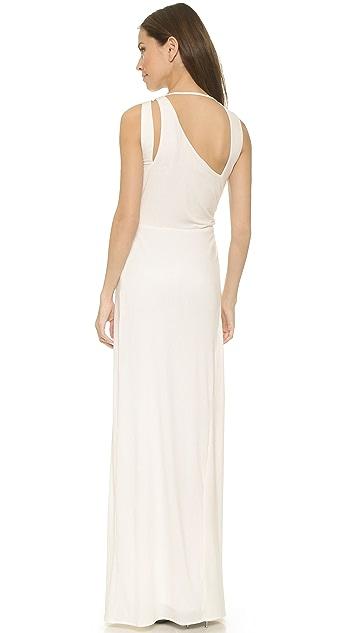 Halston Heritage Sleeveless Draped Gown