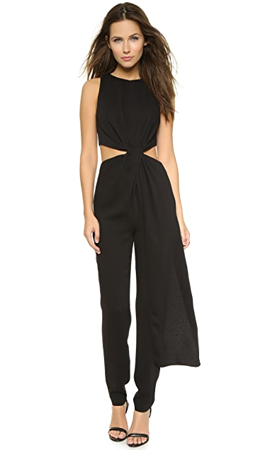 HALSTON Sleeveless Jumpsuit