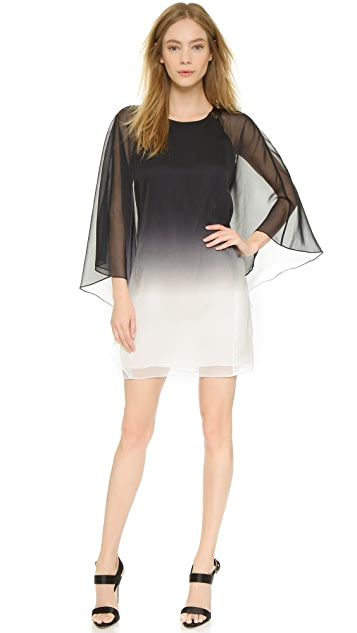 Halston Heritage Flowy Sleeve Cutout Dress