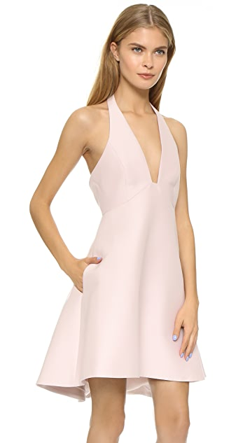 Halston Heritage Structured Halter Dress