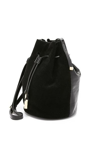 HALSTON Drawstring Bucket Bag
