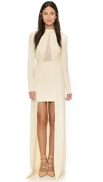 Halston Heritage High / Low Mock Neck Gown