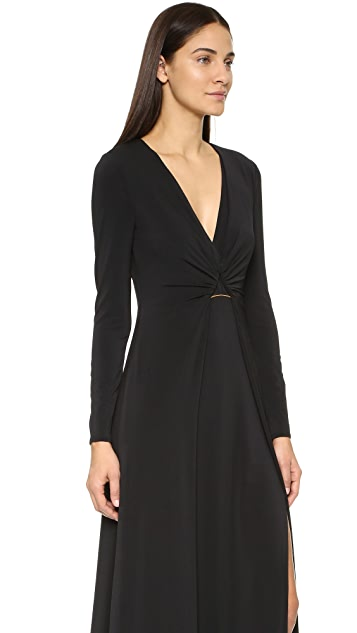 Halston Heritage Jersey Gown with Hardware