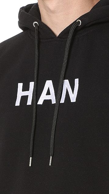 Han Kjobenhavn Embroidered Logo Hoodie