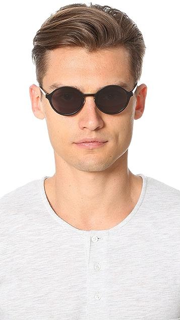 Han Kjobenhavn Binoculars Round Sunglasses