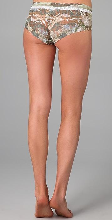 Hanky Panky Camo Lace Boy Shorts