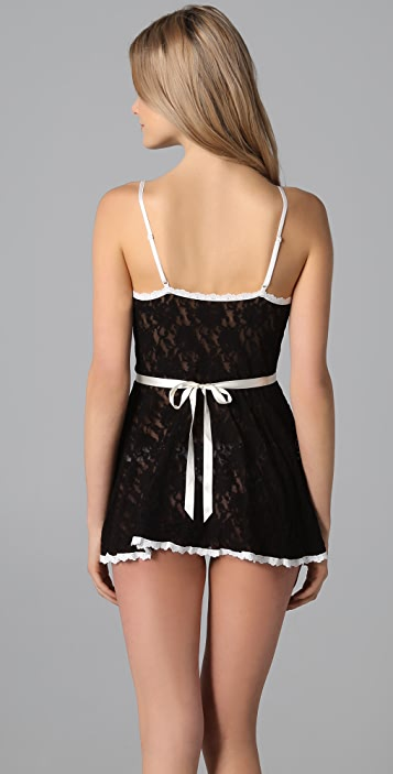 Hanky Panky French Maid Babydoll with G-String