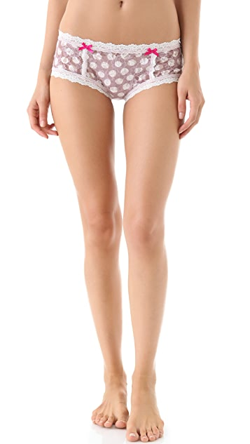 Hanky Panky Grand Dot Boyshorts with Bows