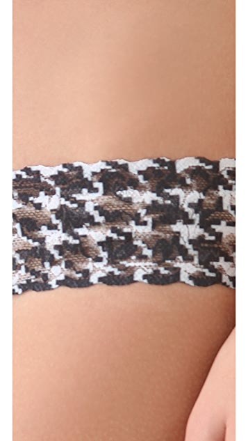 Hanky Panky Houndstooth Low Rise Thong