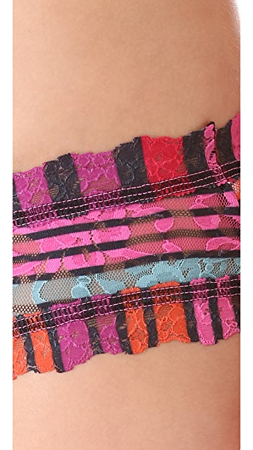 Hanky Panky Licorice Stripe Cheeky Hipster Briefs