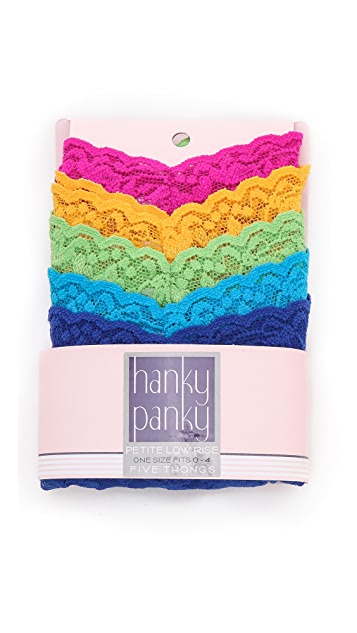 Hanky Panky Petite Thong 5 Pack