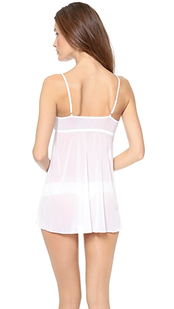 Hanky Panky Embroidered Mesh Babydoll with G-String